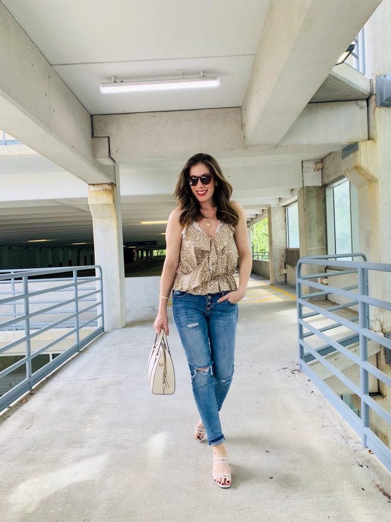 Houston blogger Maria Munoz walking
