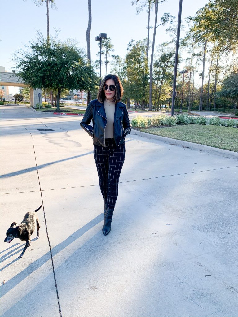 Houston fashion blogger Maria Munoz in rocker chic style
