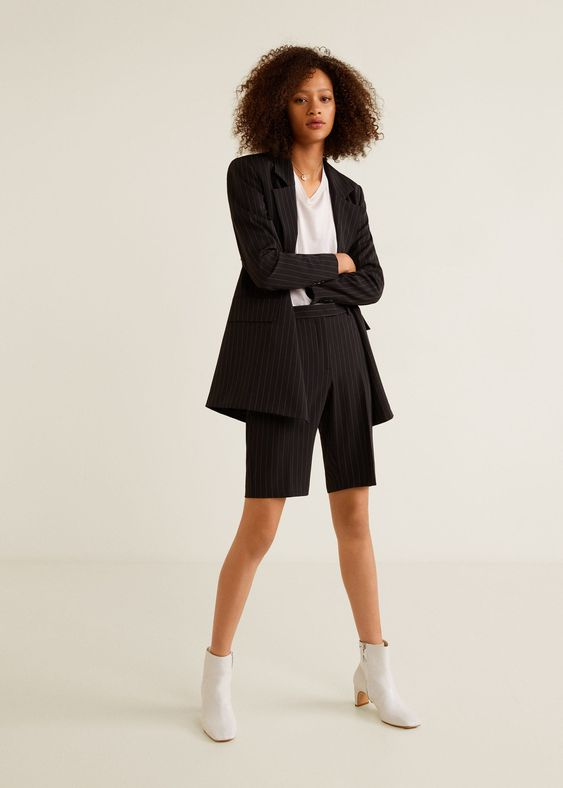 Pinstripe bermuda short suits