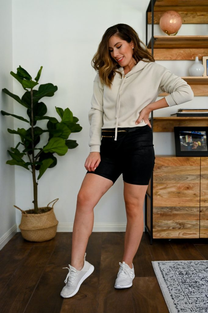 Fashion blogger Maria Munoz shares how to style biker shorts for all