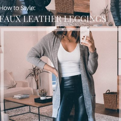 Houston style blogger Maria Munoz shares 3 ways to style faux leather leggings