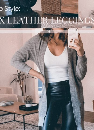 How To Casually Style Faux Leather Leggings in 2020