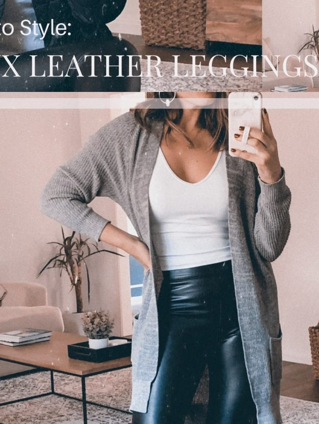 Houston style blogger Maria Munoz shares 3 ways to style faux leather leggings