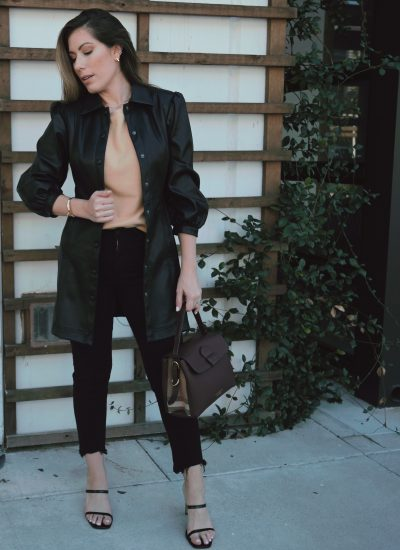 How I Wore a Topshop Dress As a Coat – Chic Fall Outfit Idea