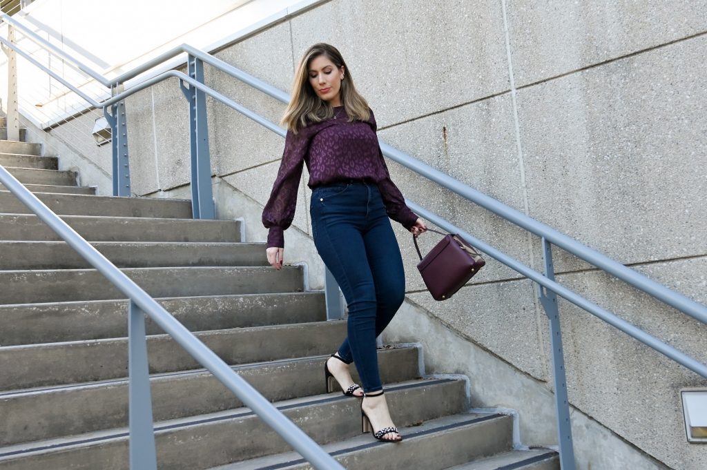 Houston  style bloggers share Express balloon top