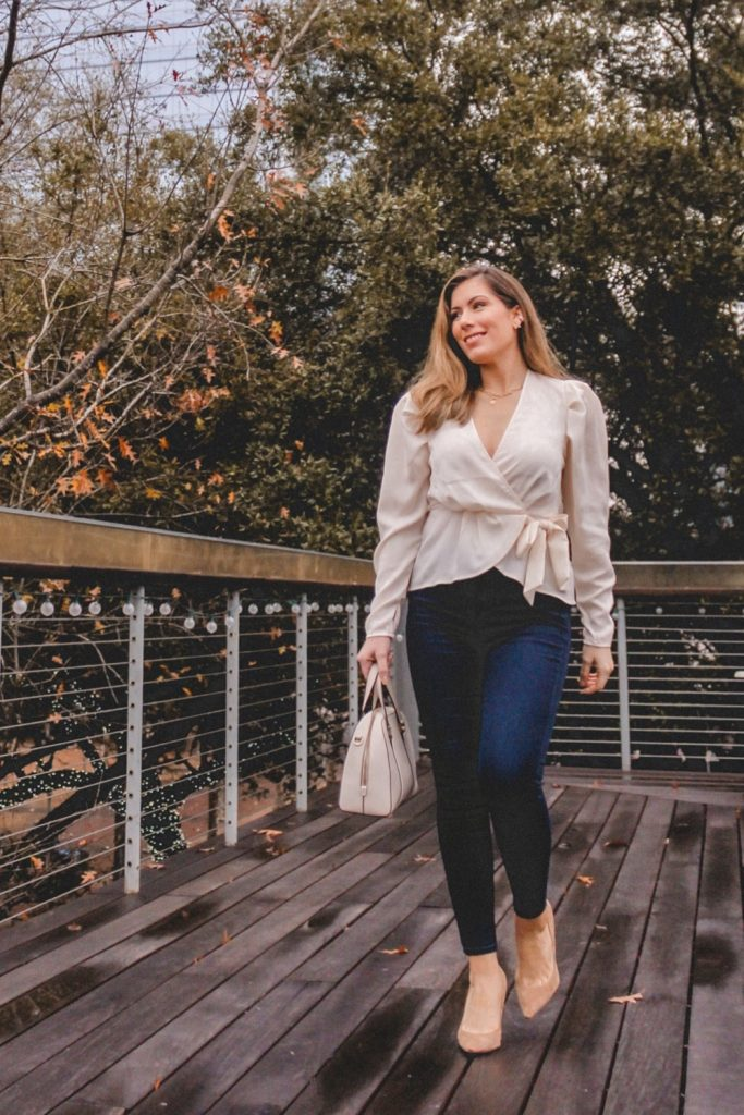 Houston style blogger shares statement sleeve tops and blouses