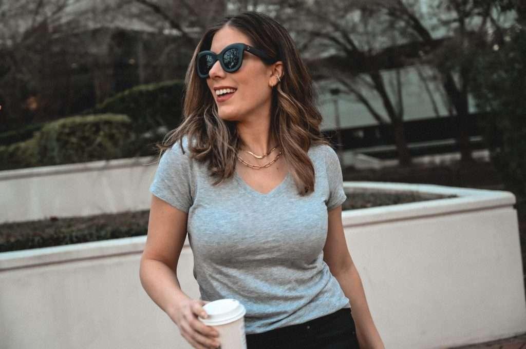 Houston style blogger Maria Munoz shares Mott and Bow tee