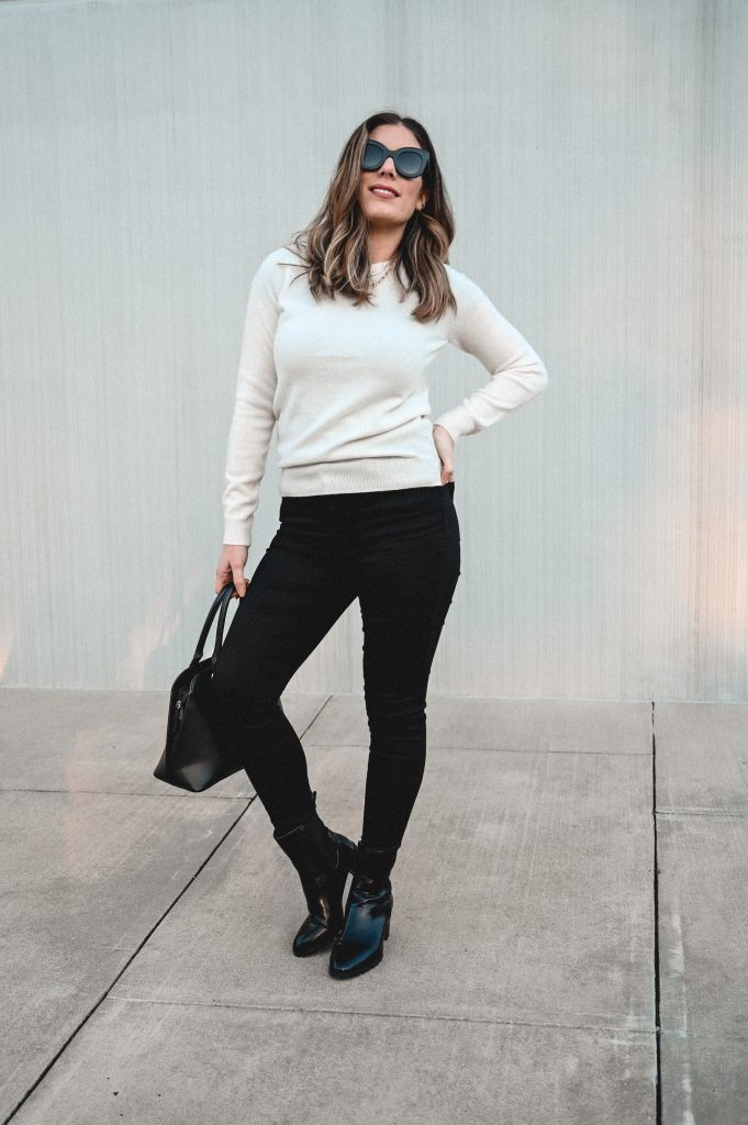 Houston style blogger Maria Munoz shares Mott and Bow Skinny Jeans