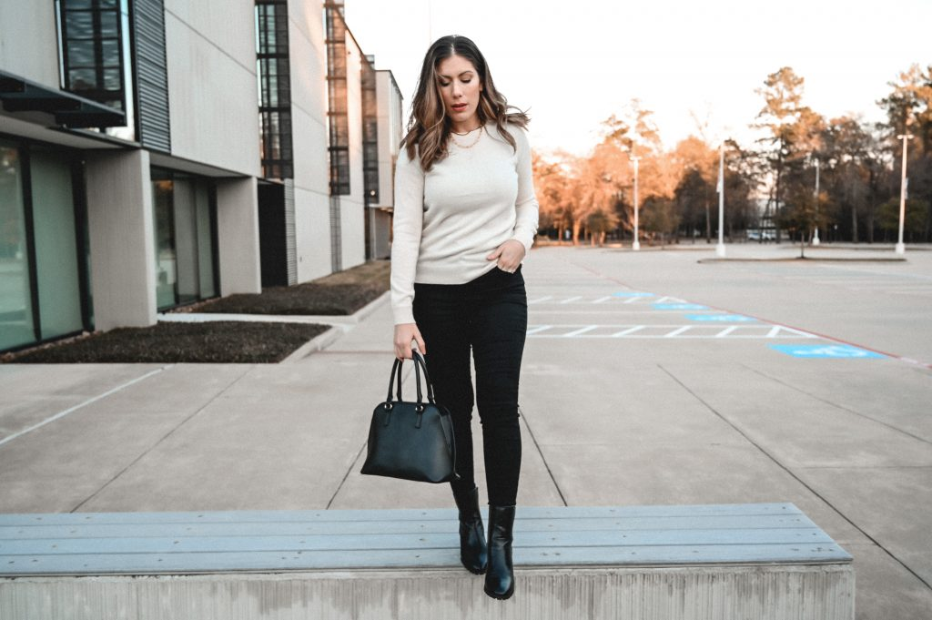 High waisted skinny jeans review for Mott and Bow