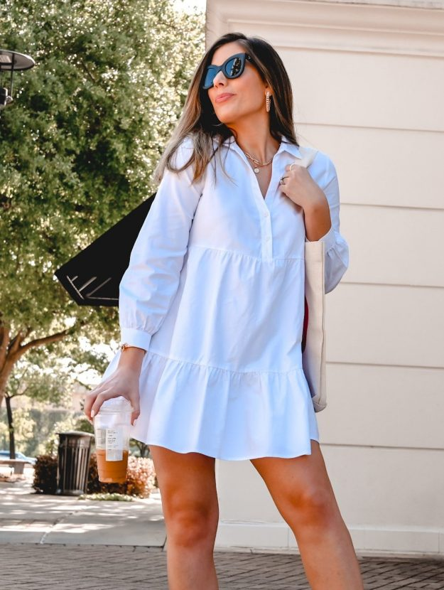 Houston style blogger in white dress for the summer