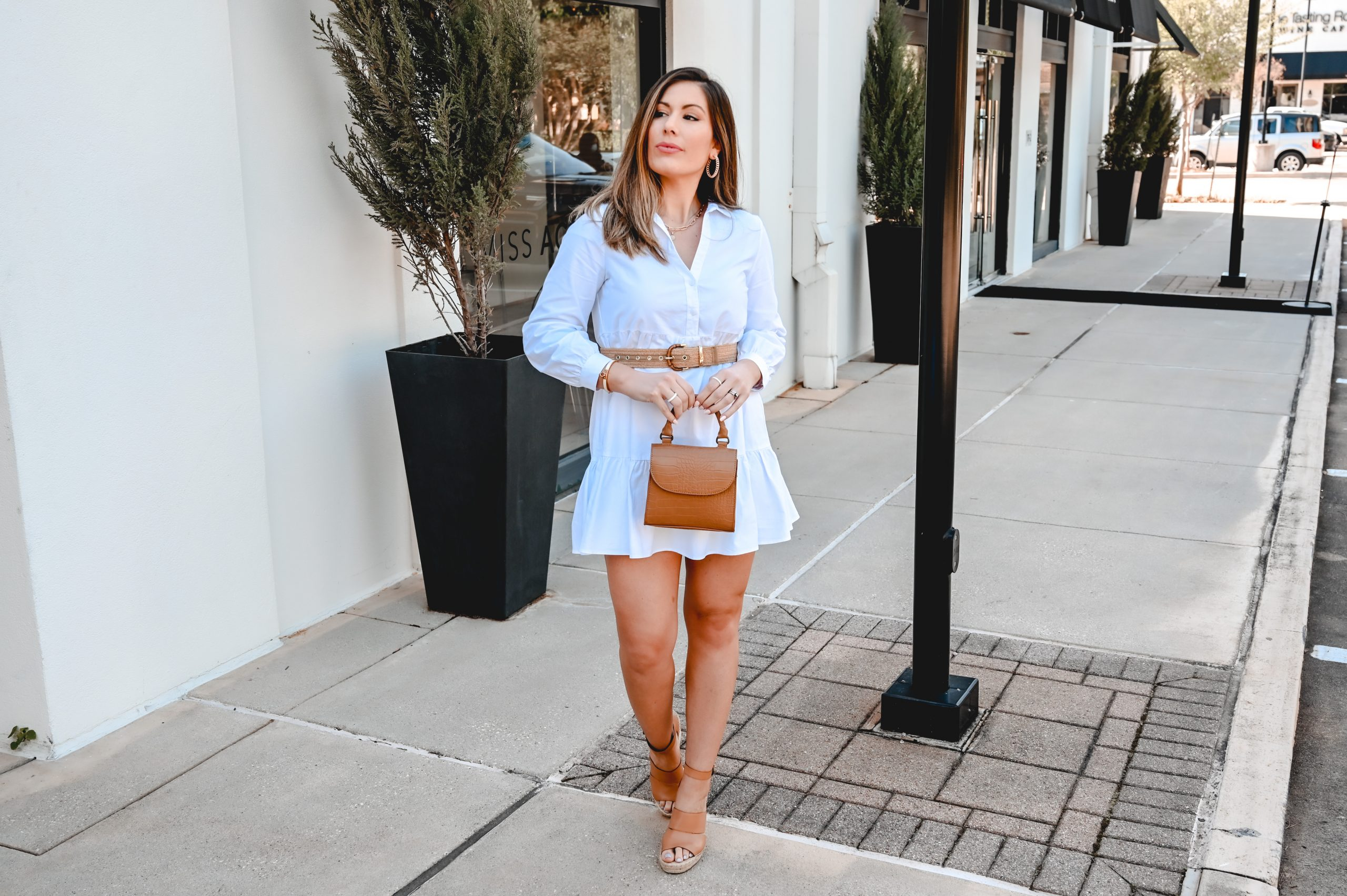 Houston style blogger Maria Munoz shares how to style a white dress in the summer