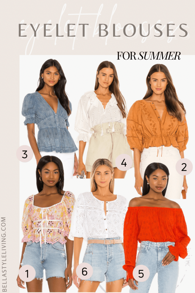 Eyelet tops for women to wear in the summer