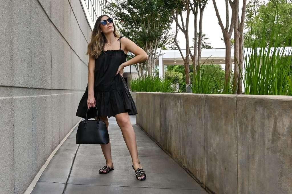 Houston lifestyle blogger shares little black summer dress