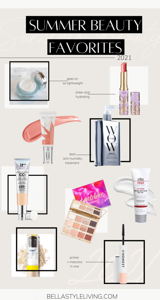 Summer beauty products and summer beauty essentials