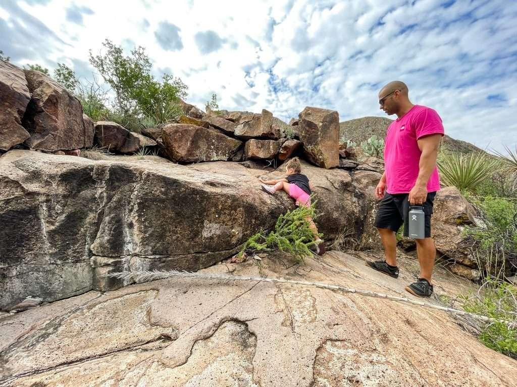 Terlingua family climbing rocks