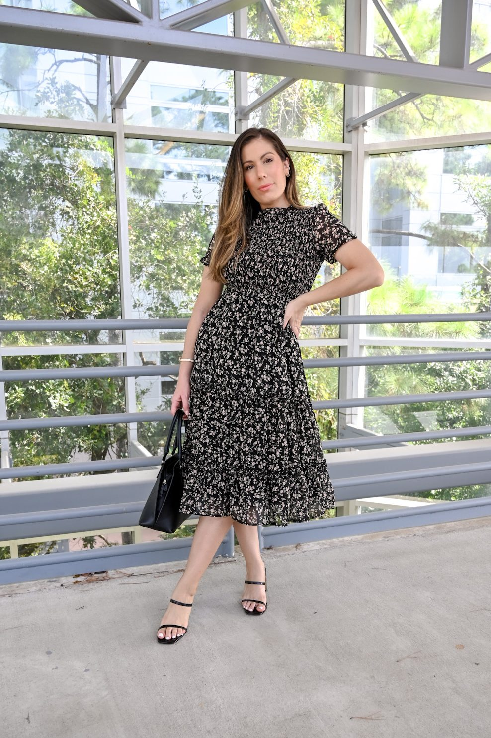 How to transition floral dress to fall with Maria Munoz