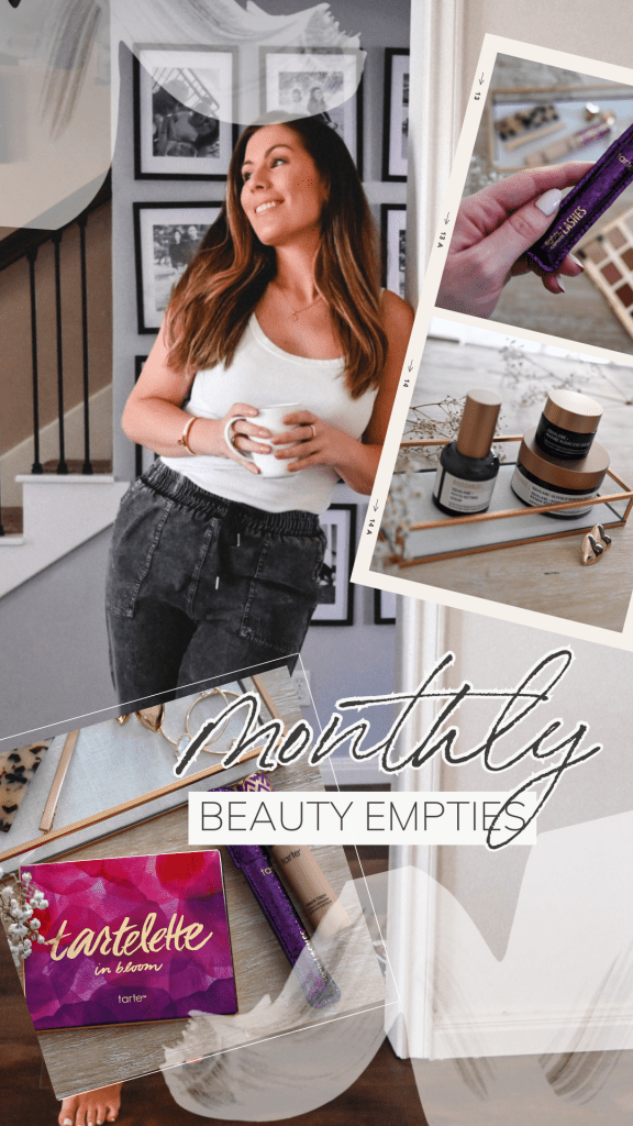 Houston lifestyle blogger sharing September beauty empties